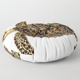 Hawksbill sea turtle (Eretmochelys imbricata) Floor Pillow