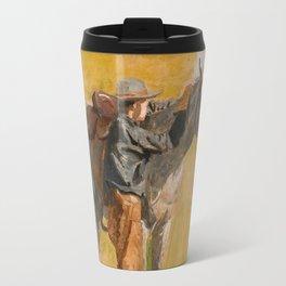 Cowboy: Study for Cowboys in the Badlands, 1887 Travel Mug