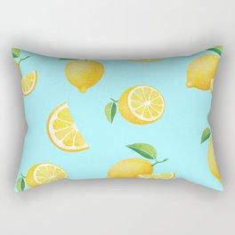 Lemons on Blue Rectangular Pillow