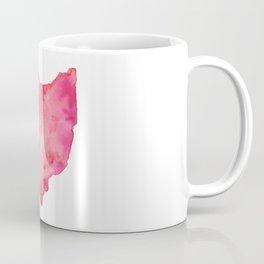 Red Ohio Coffee Mug