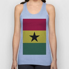 Ghana flag emblem Unisex Tank Top