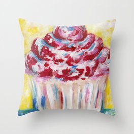 CUPCAKE #1 Throw Pillow
