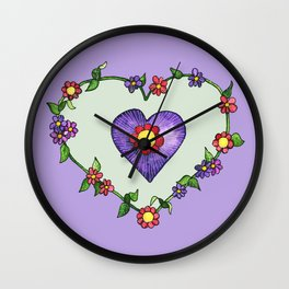 Heartily Floral Wall Clock