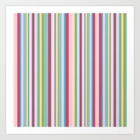 Subtle Stripes Art Print