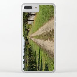 On the way to home, Winery landscape Clear iPhone Case