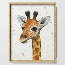 Baby Giraffe Serving Tray