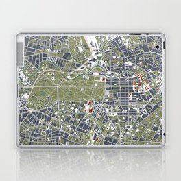 Berlin city map engraving Laptop & iPad Skin