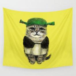 Shreky Cat Wall Tapestry