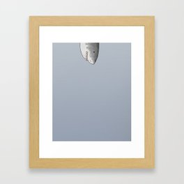 Unexpected Shark Framed Art Print