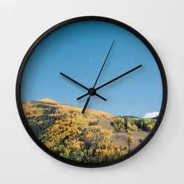 Fall In The Mountains Wall Clock