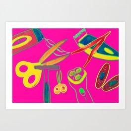 BEAUTY TOOLS Art Print