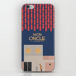 Mon Oncle - Jacques Tati Movie Poster, classic French movie, old film, Cinéma français, fun, humor iPhone Skin