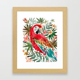 CHARLIE THE SCARLET MACAW Framed Art Print
