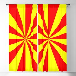 RED YELOW SUNSHINE Blackout Curtain