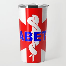 DIABETES medical alert identification tag  Travel Mug
