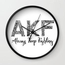 AKF - Always Keep Fighting Wall Clock