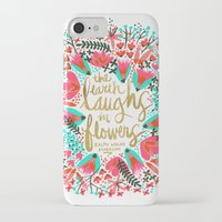 waldo iPhone & iPod Cases featuring The Earth Laughs in Flowers – Pink & Gold by Cat Coquillette
