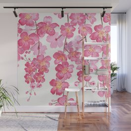 Weeping Cherry Blossom Wall Mural