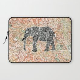 Tribal Paisley Elephant Colorful Henna Floral Pattern Laptop Sleeve