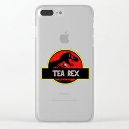 Tea Rex Funny Clear iPhone Case