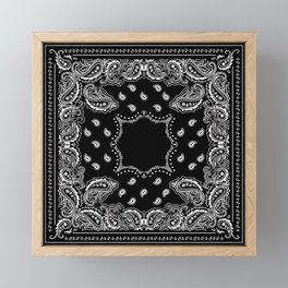 Bandana Black & White Framed Mini Art Print