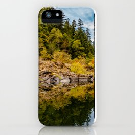 Rocky Fall Reflections iPhone Case