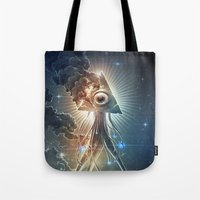 war Tote Bags featuring War Of The Worlds II. by Dr. Lukas Brezak