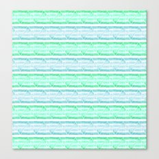 blue&green stripes Canvas Print