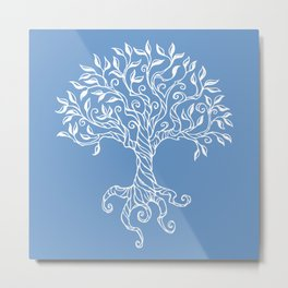 Tree of Life Blue Metal Print