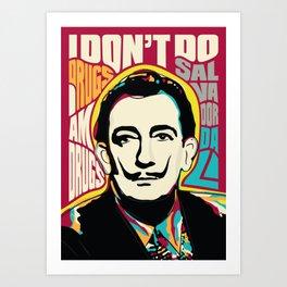 Salvador Dali, Psychedelic Pop Art inspirational quote Art Print