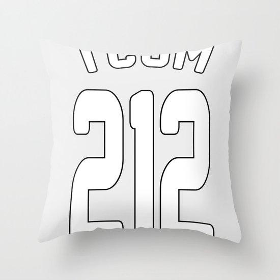 TCOM 212 AREA CODE JERSEY Throw Pillow