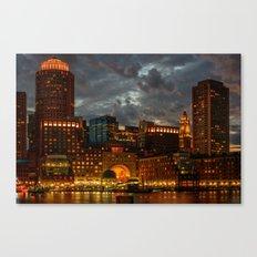 Night at Boston Harbor Canvas Print