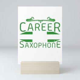 Saxophone Player Band Jazz Mini Art Print