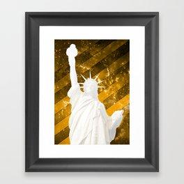 Liberty Gold Pop Art Framed Art Print
