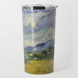 Wheatfield with Cypresses Travel Mug