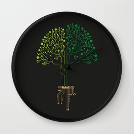 Technology Tree Wall Clock