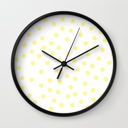 Simply Dots in Pastel Yellow Wall Clock