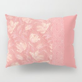 Laced pink Pillow Sham