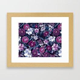 Floral Night Framed Art Print