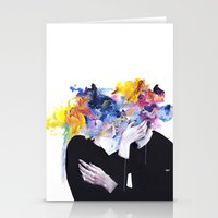 agnes Stationery Cards featuring intimacy on display by agnes-cecile