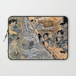 Kuniyoshi Utagawa, The ghost of Taira Tomomori, Daimotsu bay Laptop Sleeve