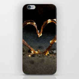 Cool heart shape made from Lighting iPhone Skin