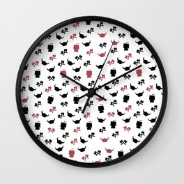 Little vikings symbols pattern axes helmets ships Wall Clock