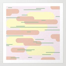 Minimalist skies Art Print
