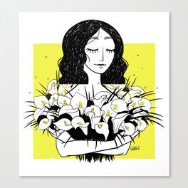 yellow flowergirl Canvas Print