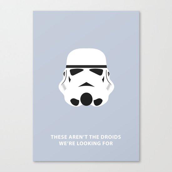 Star Wars Minimalism - Stormtrooper Canvas Print