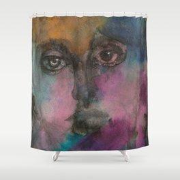 Watercolor Man Shower Curtain