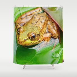 Frog on Pad Shower Curtain