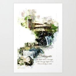 Fallingwater High, Watercolor Art Print