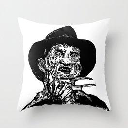 Freddy Krueger  Throw Pillow